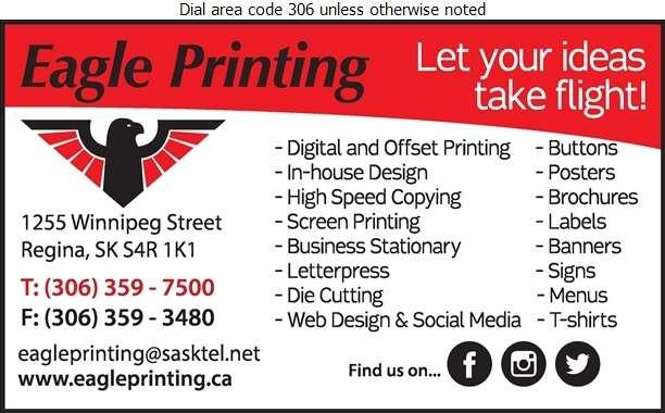 Eagle Printing & Buttons Inc - Printers Digital Ad