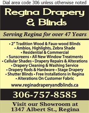 Regina Drapery & Blinds Centre - Blinds Retail Digital Ad