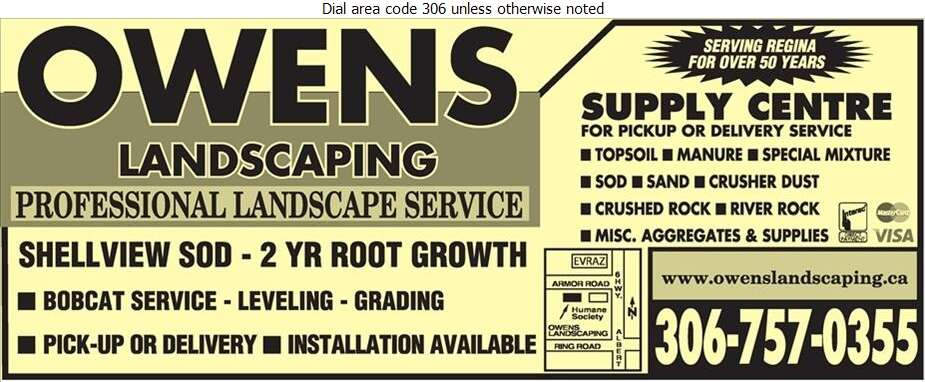 Owens Landscaping (Yard Armour Rd) - Landscape Contractors & Designers Digital Ad