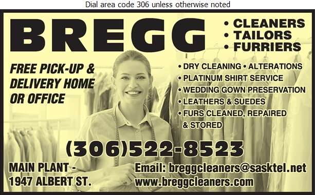 Bregg Cleaners Tailors & Furriers Ent Ltd - Dry Cleaners Digital Ad