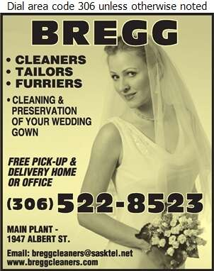 Bregg Cleaners Tailors & Furriers Ent Ltd - Wedding Planning, Supplies & Service Digital Ad