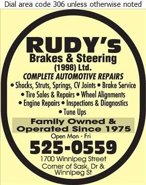 Rudy's Brakes & Steering (1998) Ltd - Auto Repairing Digital Ad