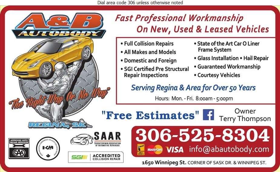 A & B Autobody Ltd - Auto Body Repairing Digital Ad