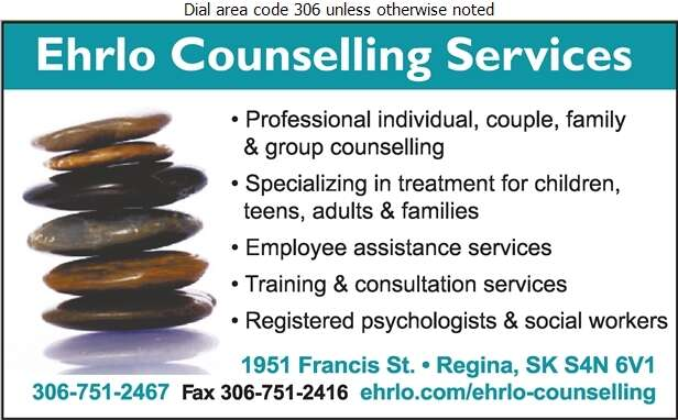 Ehrlo Counselling Services - Counselling Digital Ad