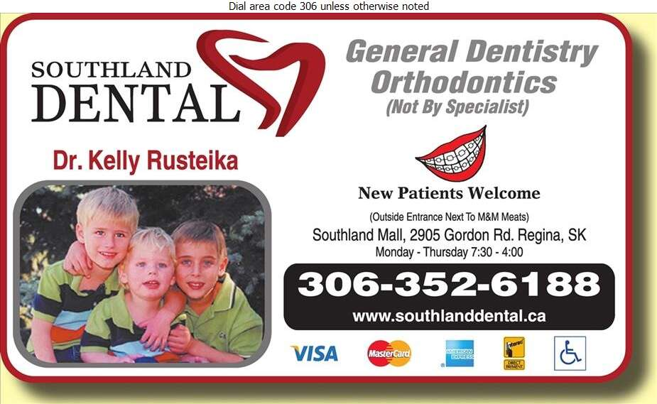 Southland Dental (Dr Kelly Rusteika) - Dentists Digital Ad