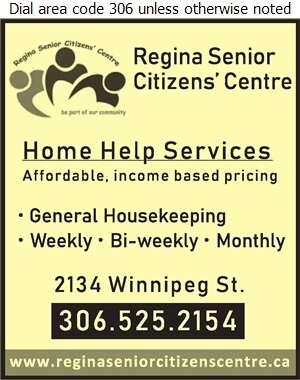 Regina Senior Citizens Centre Inc (Regina Senior Citizens Centre Inc) - House Cleaning Digital Ad