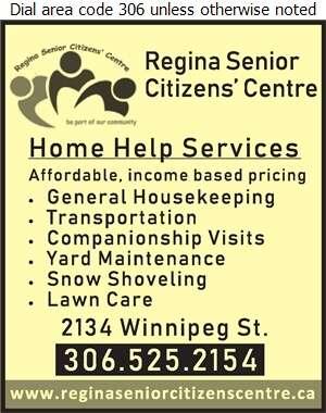 Regina Senior Citizens Centre Inc (Fax) - Senior Services Digital Ad
