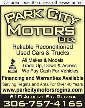 Park City Motors Ltd - Auto Dealers Used Cars Digital Ad
