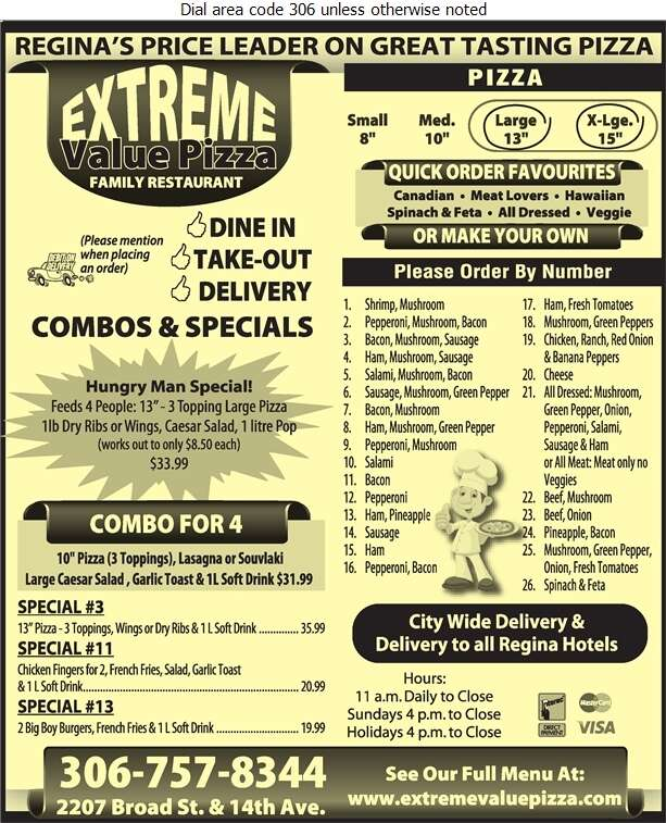 Extreme Value Pizza Ltd - Pizza Digital Ad