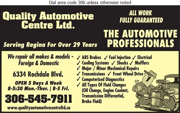 Quality Automotive Centre - Auto Repairing Digital Ad