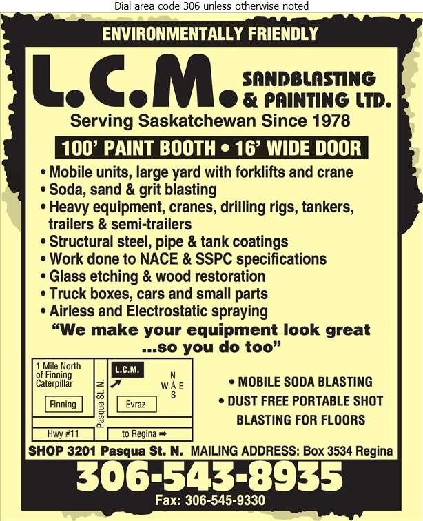 L C M Sandblasting & Painting Ltd - Sandblasting Digital Ad