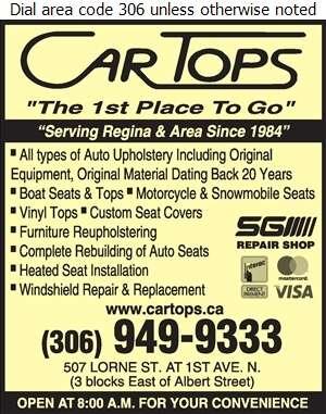Cartops - Upholsterers Digital Ad