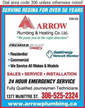 Arrow Plumbing & Heating Co Ltd - Furnaces Heating Digital Ad