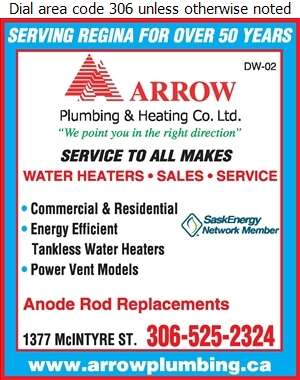 Arrow Plumbing & Heating Co Ltd - Water Heaters Dealers Digital Ad
