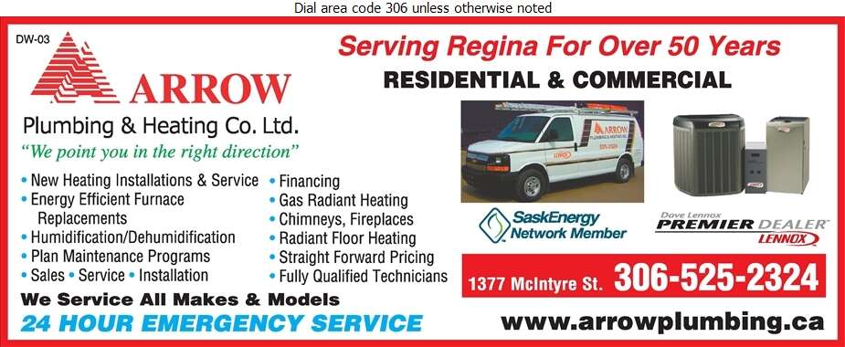 Arrow Plumbing & Heating Co Ltd - Heating Contractors Digital Ad