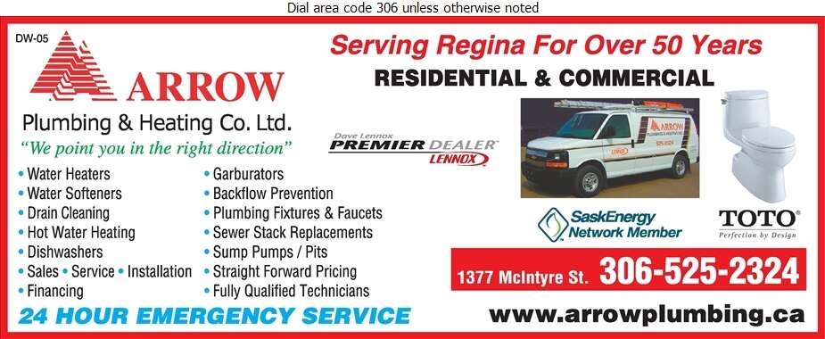 Arrow Plumbing & Heating Co Ltd - Plumbing Contractors Digital Ad