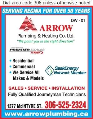Arrow Plumbing & Heating Co Ltd - Air Conditioning Contractors Digital Ad
