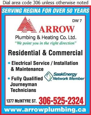 Arrow Plumbing & Heating Co Ltd - Electric Contractors Digital Ad