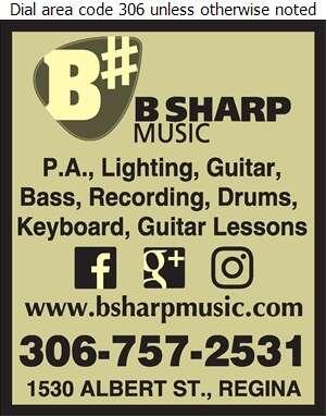 B Sharp Music - Music Dealers Digital Ad