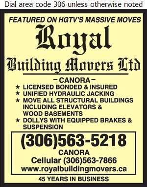 Royal Building Movers Ltd - Building Movers Digital Ad