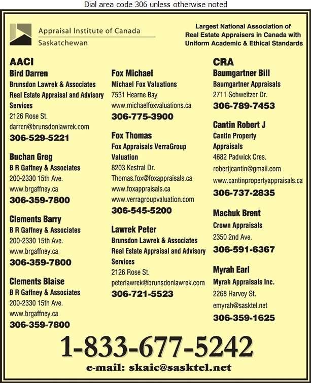 Appraisal Institute Of Canada Saskatchewan Association - Real Estate Appraisers Digital Ad