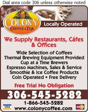 Colony Coffee & Tea (Order Desk) - Restaurant Equipment & Supplies Digital Ad