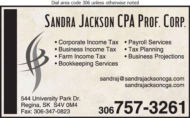 Sandra Jackson CPA - Accountants Chartered Professional Digital Ad
