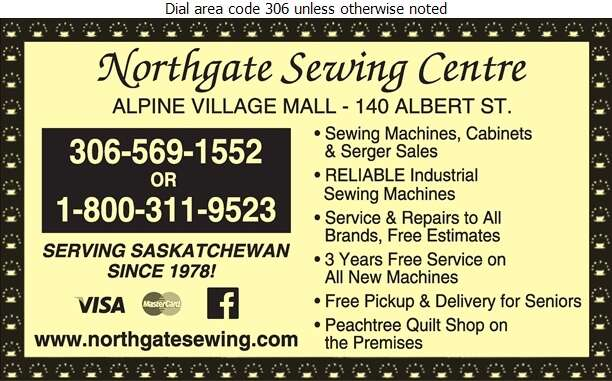 Northgate Sewing Centre - Sewing Machines Sales & Service Digital Ad