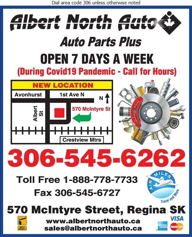 Albert North Auto & Agro Supplies Ltd - Auto Parts & Supplies Retail Digital Ad