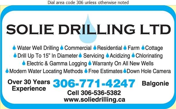 Solie Drilling Ltd - Water Well Drilling & Service Digital Ad