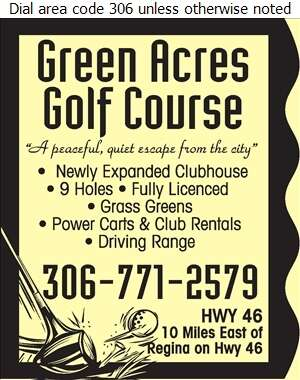 Green Acres Golf Course - Golf Courses Public Digital Ad