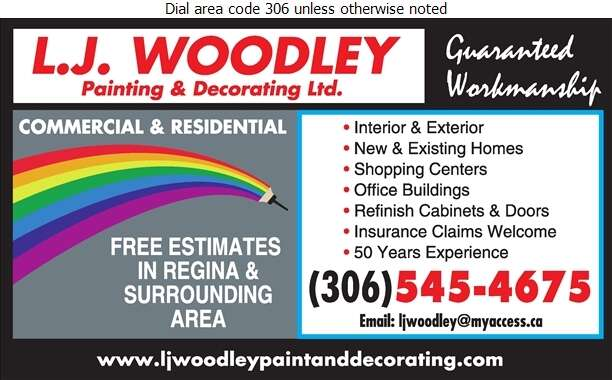 L J Woodley Painting & Decorating Ltd - Painting Contractors Digital Ad