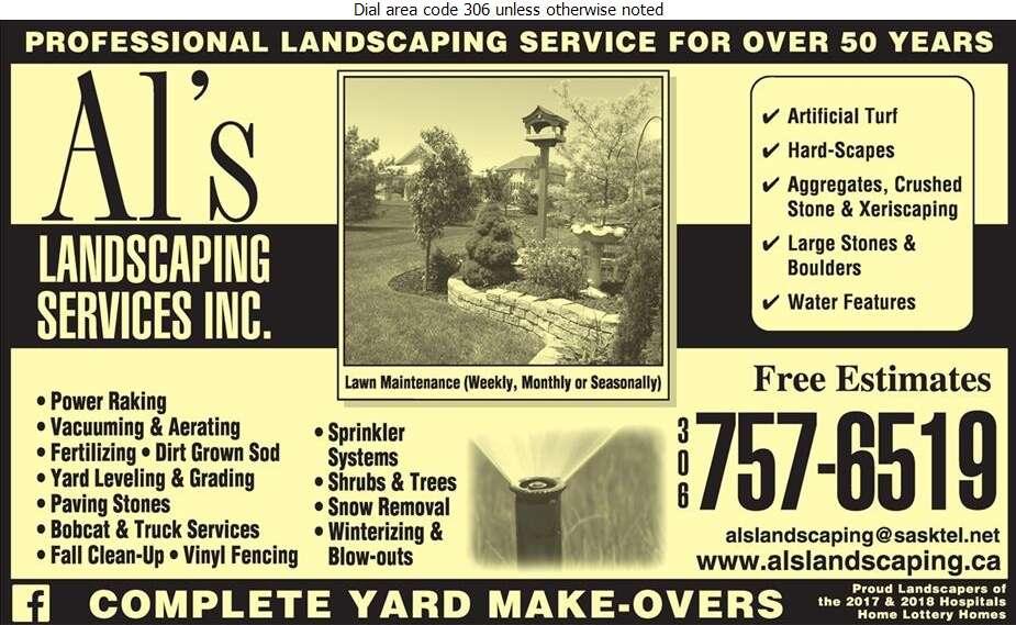 Al's Landscaping Services - Landscape Contractors & Designers Digital Ad