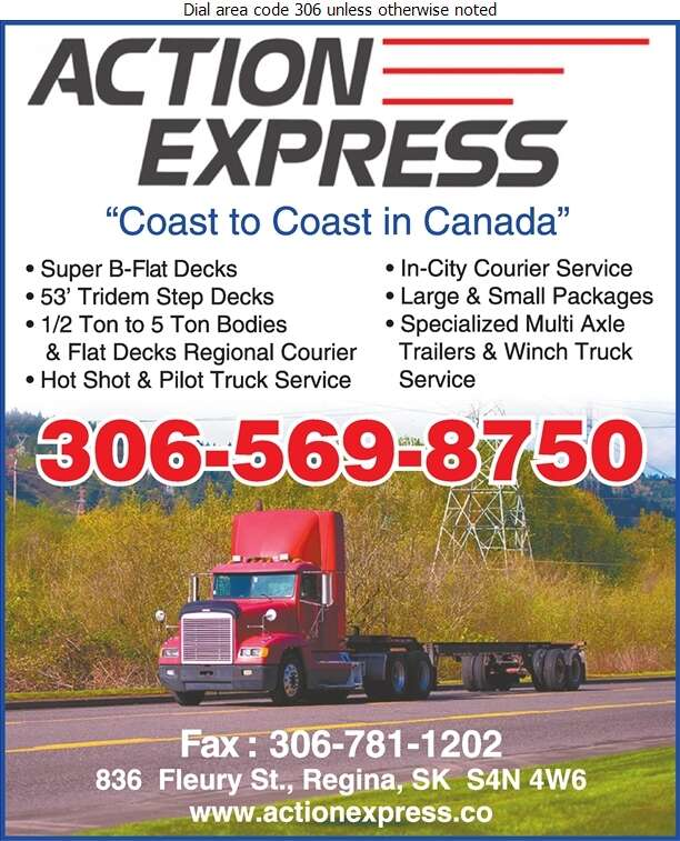 Action Express Ltd - Trucking Digital Ad