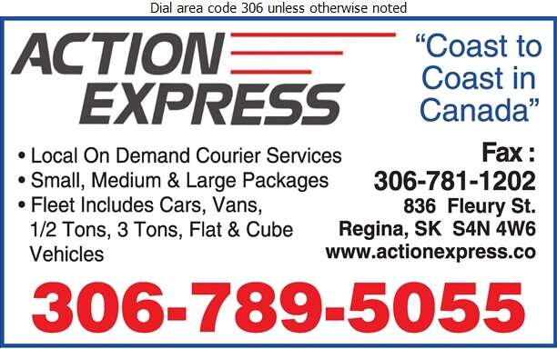 Action Express Ltd - Courier Service Digital Ad