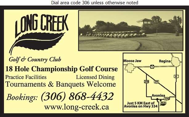 Long Creek Golf & Country Club - Golf Courses Public Digital Ad