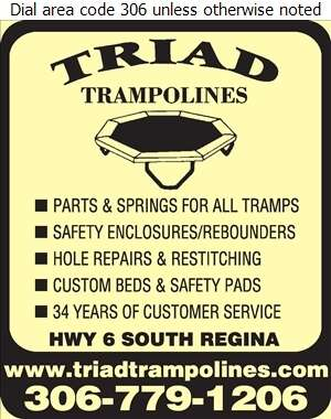 Triad Trampolines Inc - Trampoline Equipment & Supplies Digital Ad