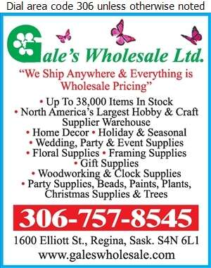 Gale's Wholesale Ltd - Craft Supplies Retail Digital Ad