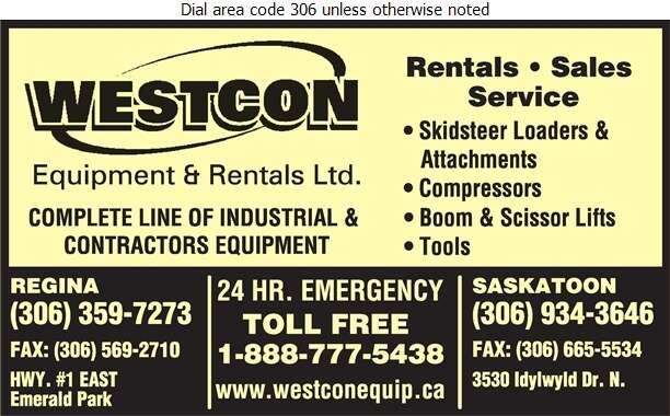 Westcon Equipment & Rentals Ltd - Rental Service General Digital Ad