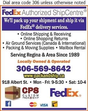 Custom Pack & Ship Regina - Courier Service Digital Ad