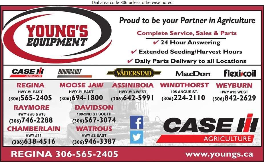 Young's Equipment Inc - Agricultural Implements Sales, Service & Parts Digital Ad