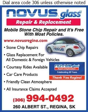 Novus Glass Repair & Replacement - Windshields Repair & Servicing Digital Ad