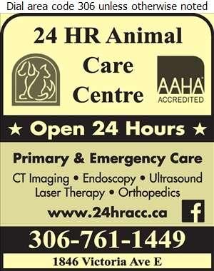 24 Hr Animal Care Centre - Veterinarians Digital Ad