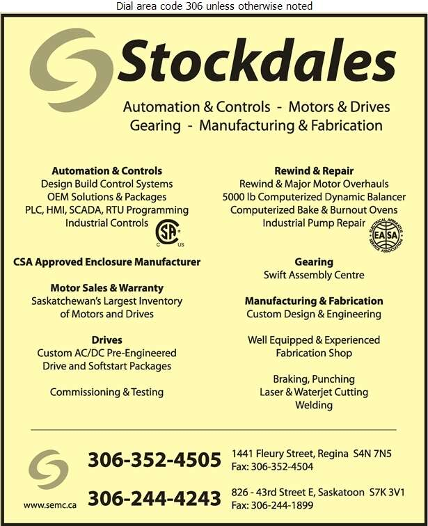 Stockdales Electric Motor Corp - Electric Motors Sales & Service Digital Ad