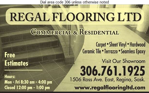 Regal Flooring Ltd - Carpets & Rugs Retail Digital Ad