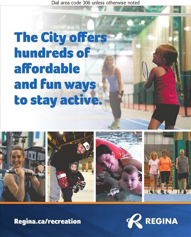 City of Regina (Albert/Scott Community Centre) - Fitness Center Digital Ad