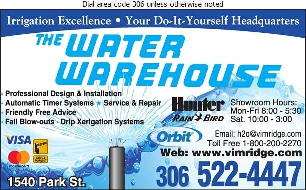 Water Warehouse - Sprinklers Garden & Lawn Digital Ad