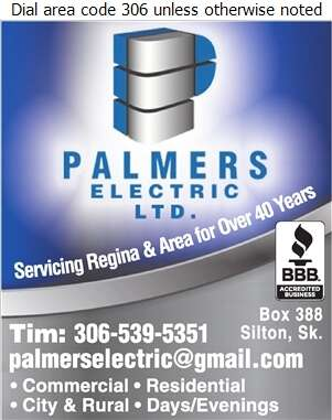Palmers Electric Ltd - Electric Contractors Digital Ad