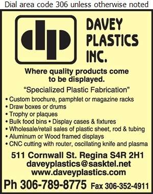 Davey Plastics Inc - Plastics Fabricating, Finishing & Decorating Digital Ad