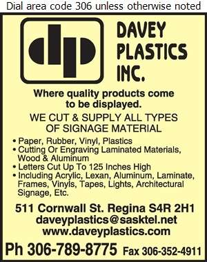Davey Plastics Inc (Profab) - Signs Equipment & Supplies Digital Ad